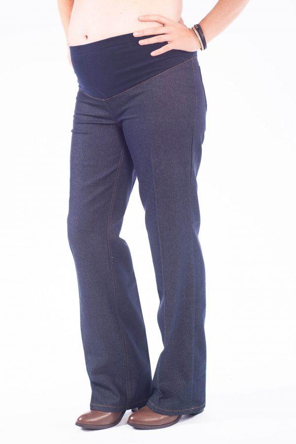 מכנס ג'ינס גזרה רחבה