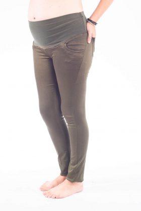 מכנס הריון סקיני – זית