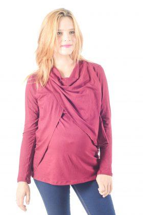 חולצת הנקה – גילת בורדו-שרוול ארוך