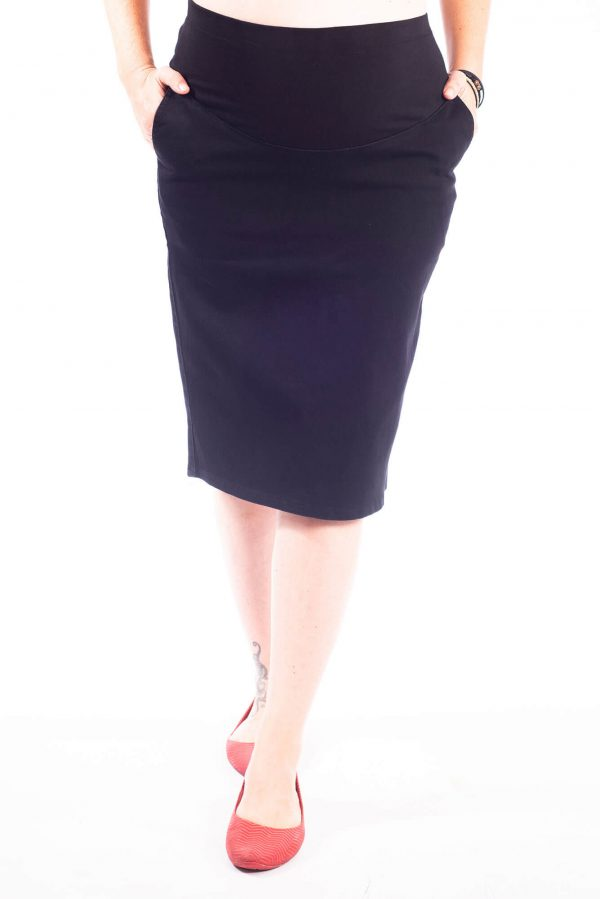 חצאית הריון סקיני קצר שחור