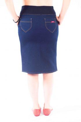 חצאית הריון גינס סקיני קצרה