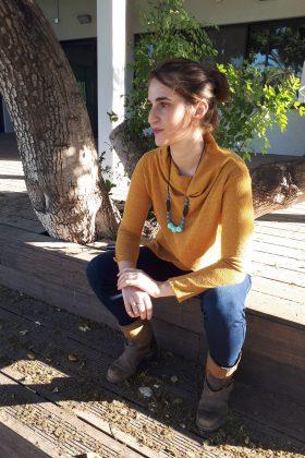 חולצת הנקה – גילת סריג חרדל