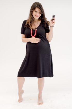 שמלת אילנה שחור
