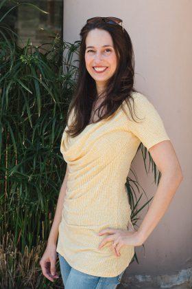 חולצת הנקה – עדי צהוב מודפס