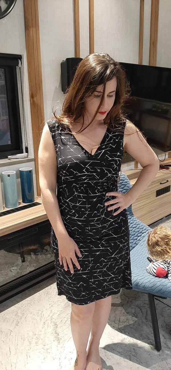 שמלת הנקה - איה שחור לבן
