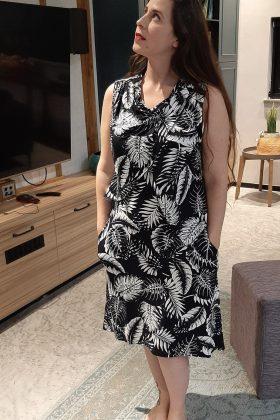שמלת הנקה – מיטל שחור לבן