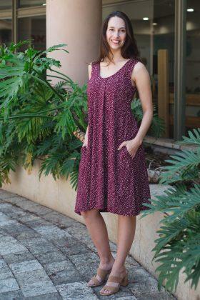 שמלת הנקה – ליבי בורדו מודפס