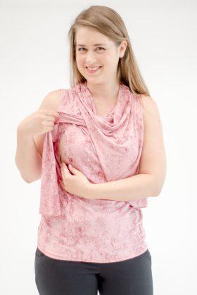 Breast Feeding Tank Top – Inbar – Pink