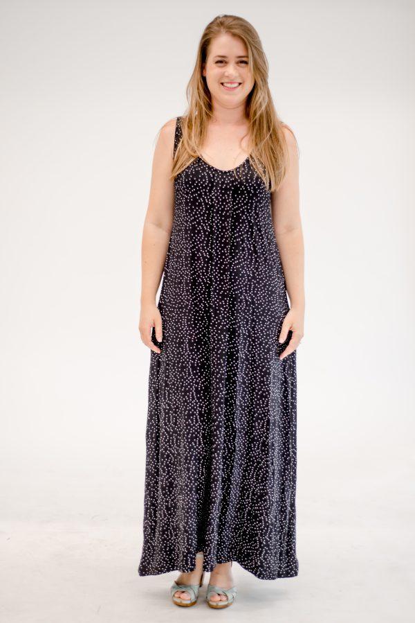 Pregnancy Dress - Anna - Black with Dots