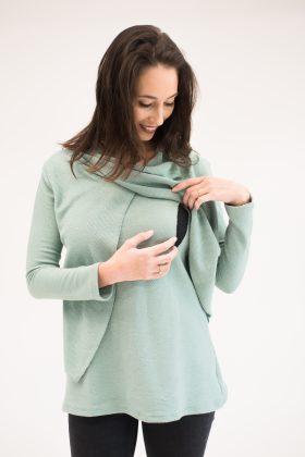 חולצת הנקה – גילת סריג טורקיז מנטה