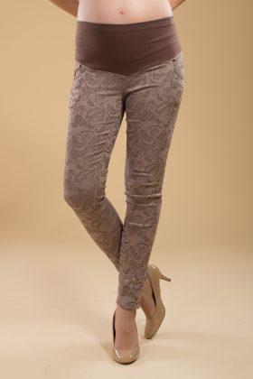 מכנס הריון סקיני כותנה בג' עם הדפס
