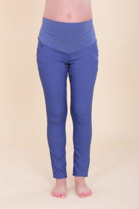 מכנס הריון סקיני כותנה כחול
