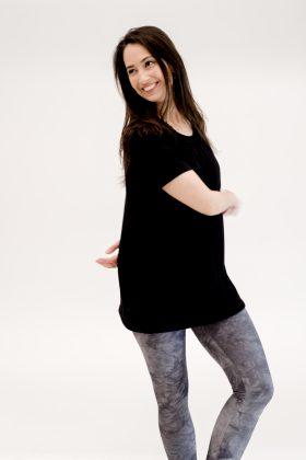 חולצת הריון והנקה רננה שחור