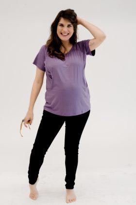 חולצת הריון והנקה רננה סגול