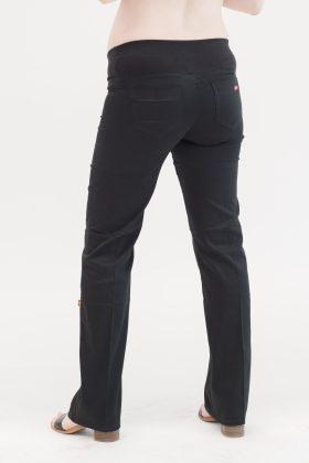 מכנס הריון כותנה גזרה ישרה שחור