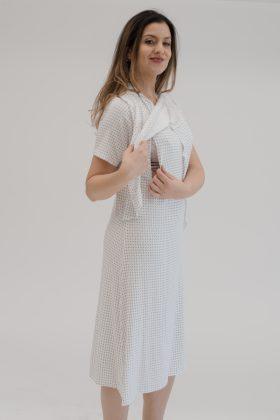 שמלת אפרת לבן הדפס