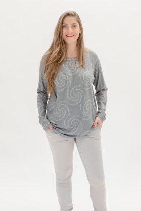 חולצת דריה אפור מודפס