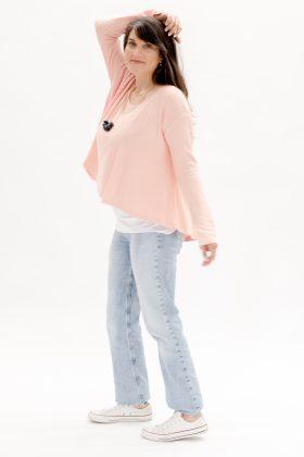 חולצת יהל בד פיקה אפרסק