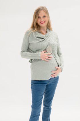 סריג להריון גילת מנטה צמות