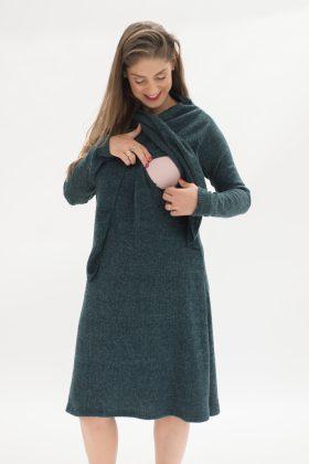 שמלת אפרת סריג ירוק